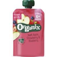 Organix Knijpfruit appel, aardbei & bosbes 6mnd