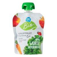 AH Biologisch Knijpfruit&gr ap wortel boerenkool 6mbio