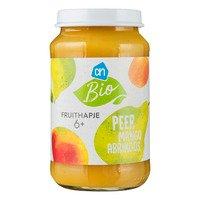 AH Biologisch Fruithapje abrikoos-mango-peer 6m