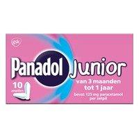 Panadol Junior 125 mg zetpillen