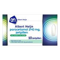 AH Paracetamol zetpillen 240 mg