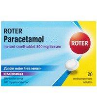 Roter Paracetamol 500 mg smelttabletten