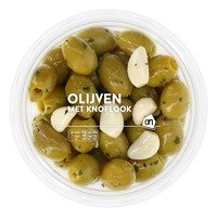 AH Groene olijven met knoflook