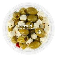 AH Groene olijven met witte kaas