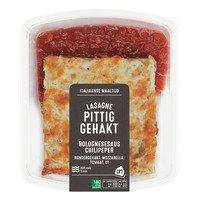 AH Verse lasagne met pittig gehakt