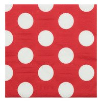 AH Servet rood witte stip 33 x 33 cm