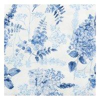 AH Servet bloemen blauw 33 x 33 cm