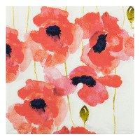 AH Servet poppy rood 33 x33 cm