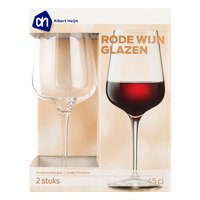 AH Rode wijnglazen model Provence